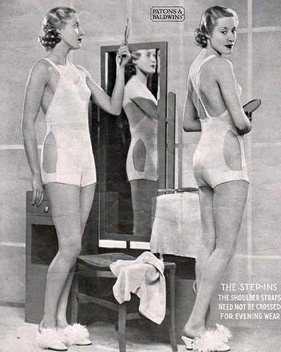 Vintage vest, panties and shape-wear