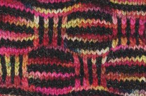 Slip stitch kntitted swatch
