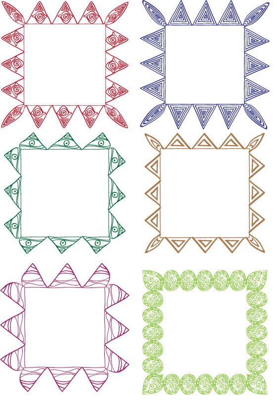 Square borders drawn in Adobe Illustrator