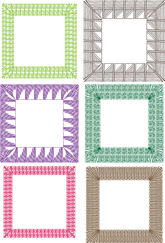 Decorative hand drawn frames