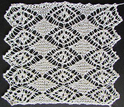 Swiss lace necktie knit from a Victorian era knitting pattern.