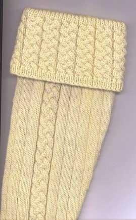 Traditional kilt socks