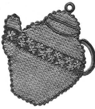 Teapot shaped potholder