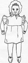 Retro rag doll. Free pattern.