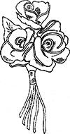 Retro felt roses. Free pattern.
