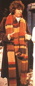 Tom Baker Doctor Who knitted scarf