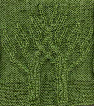 Twining Trees Afghan Square
