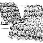 Vandyke Afghan and Cushion in Crochet