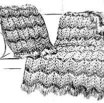 ripple stitch blanket and cushion