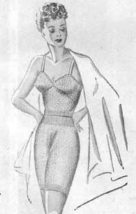 Knitted lingerie from the 1940's