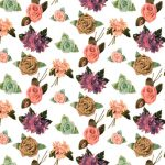 Fabric Flower Pattern