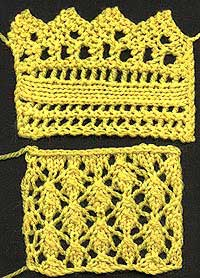Shetland Shawl Lace and Centre Stitches