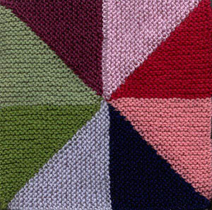 Windmill Quilt Afghan Square