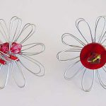 Beaded Wire Loomed Flowers
