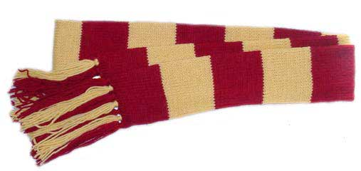 Striped knit Gryffindor scarf