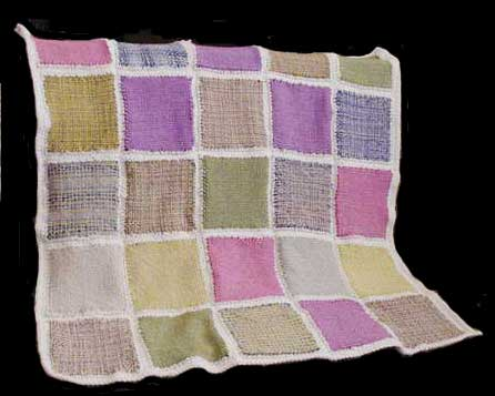 Afghan blanket woven on a small lap loom