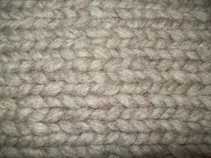 Hand knit pencil roving