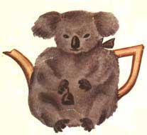 Vintage koala stitch tea cozy