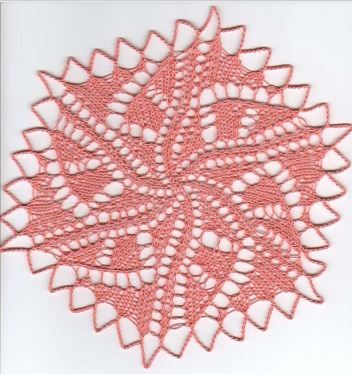 Graphica doily, a small modern doily
