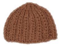 Brioche knit hat, knit in the round