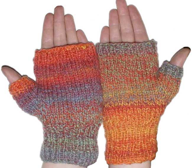 Custom Fit Fingerless Mitts Knitting And