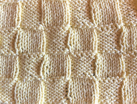 Large knit/purl check swatch