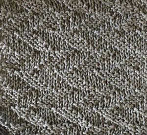 Knit and purl herringbone swatch.