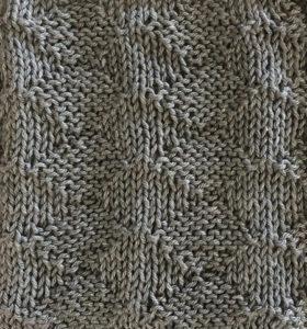 Knit/purl diamonds swatch