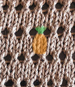 Little knit stitches that look like pineapples