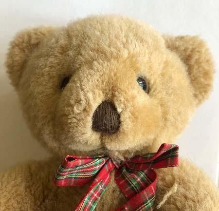 Teddy bear with a brand new eye.