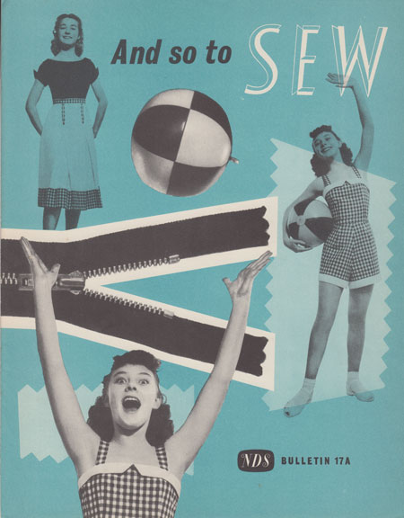 And So To Sew bulletin 17a by The Needlework Development Scheme