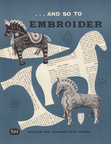 And So To Embroider bulleting 18b - designing toy horses by the Needlework Development Scheme