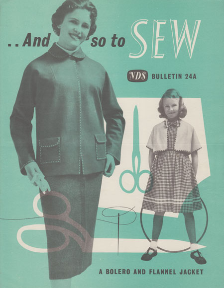 ANd So To Sew bulletin 24 a by the Needlework Development Scheme