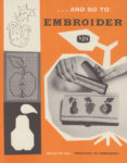 And So To Embroider 24b – Preparing to Embroider