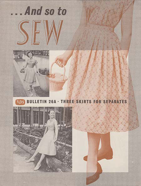 And So To Sew bulletin 26a by The Needlework Development Scheme