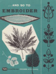 And So To Embroider 26b – Designing with Leaves