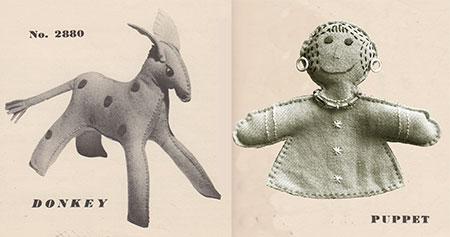 Felt donkey and puppet